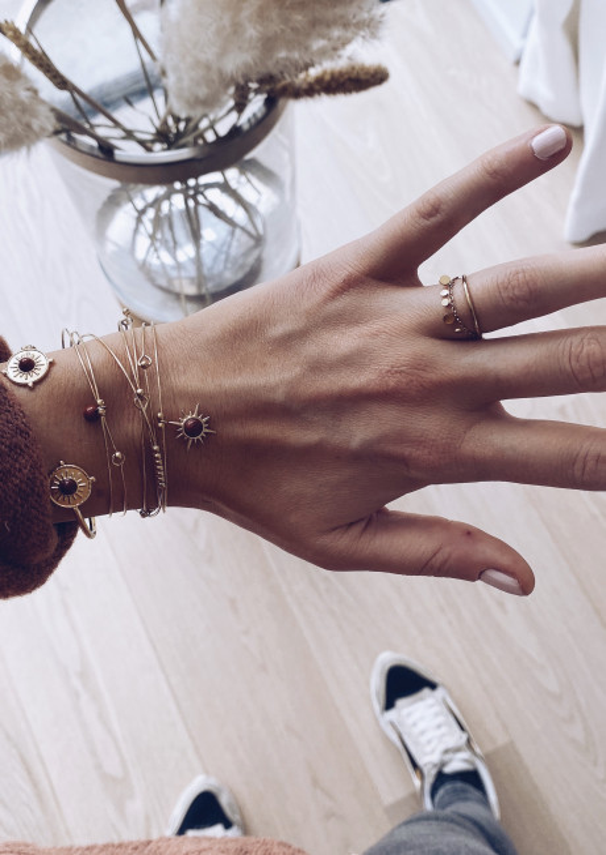 Bracelet Jaspe doré