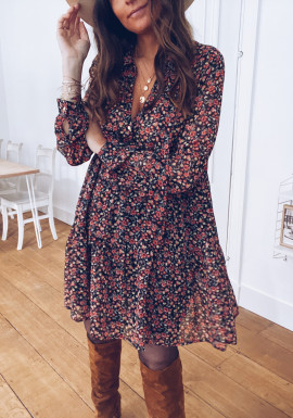 Valentine dress with flowers