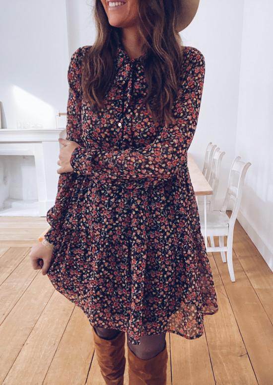 Valentine dress with flowers