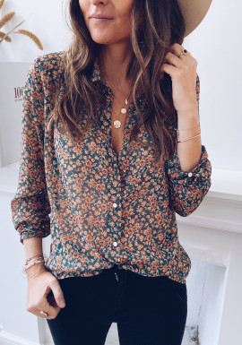 Agnes blouse with green flowers