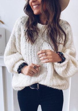 White Perla Sweater