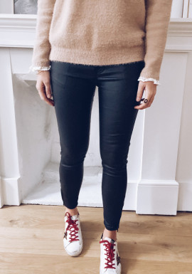 Lorys leather effect jeans