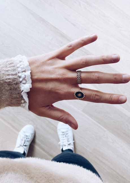 Golden Ariel ring