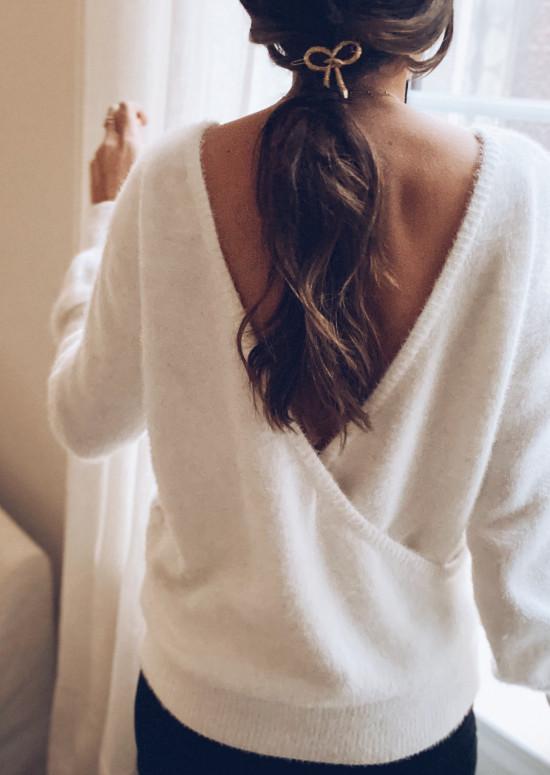 White Mylia Sweater