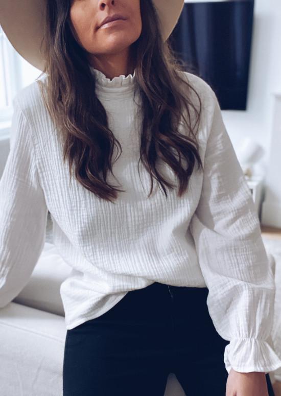 White Many blouse