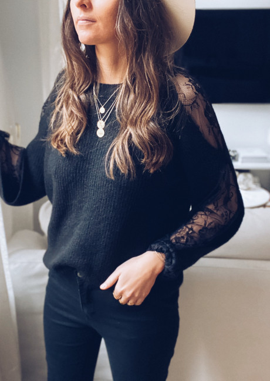 Black William sweater