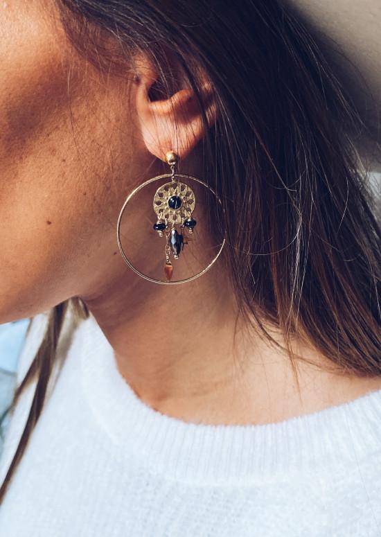 Boucles d'oreilles Jean doré