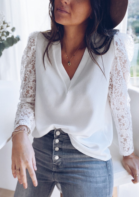 White Odina blouse