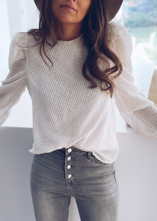 Ecru and golden Suzon blouse