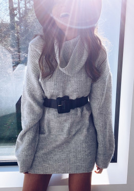 Light grey Lexa sweater dress