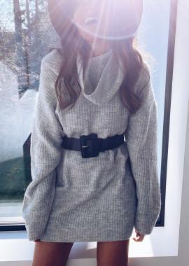 Robe pull Lexa gris clair