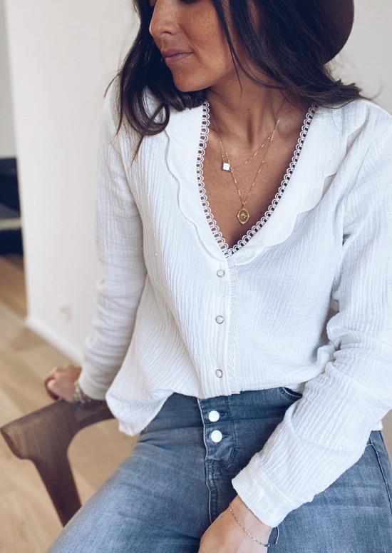 White Lizzie blouse