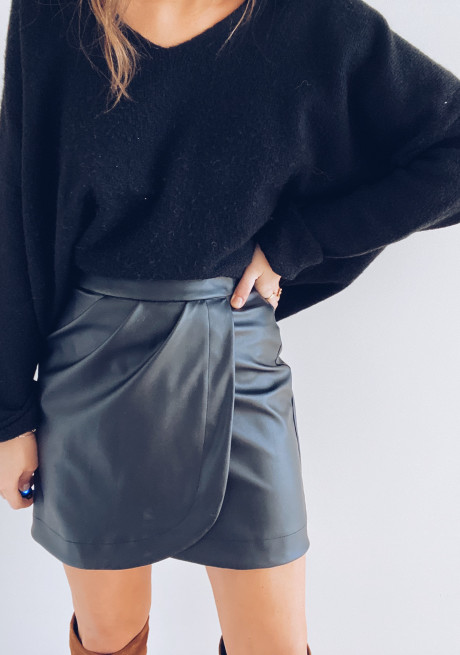 Nella leather effect skirt