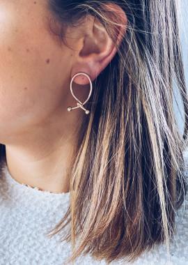 Boucles d'oreilles Ilaria doré