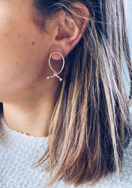 Golden Ilaria earrings