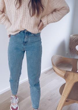 Pily blue jeans