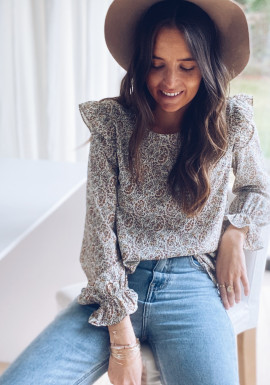 Penelope blouse with flowers