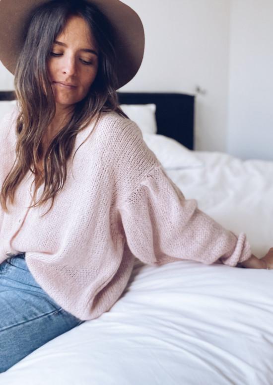 Pale pink Gorgia cardigan