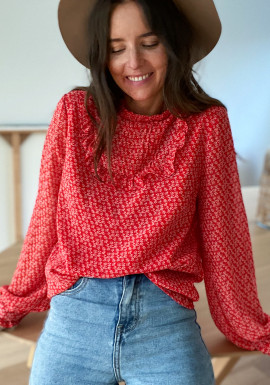 Red Marissa blouse