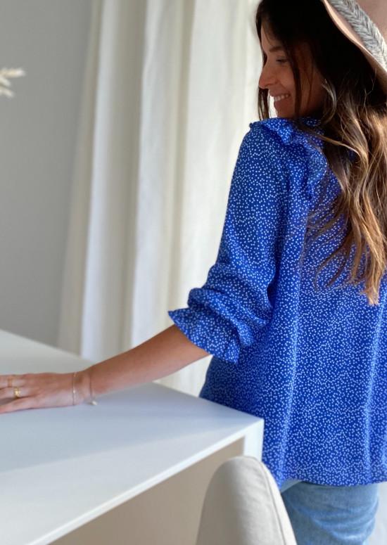 Blue Mariette blouse