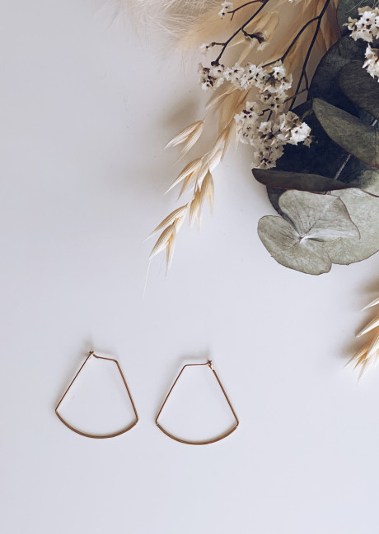 Boucles d'oreilles Fino doré