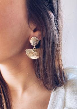 Boucles d'oreilles Hazel doré