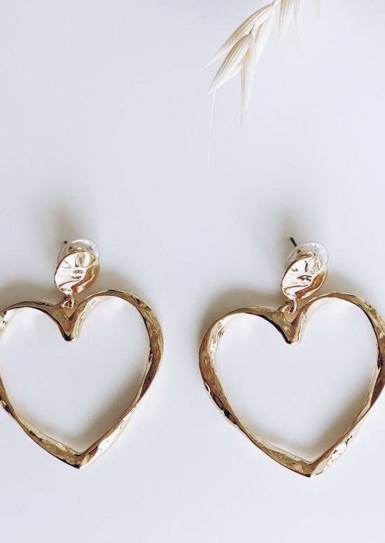 Boucles d'oreilles Biba doré