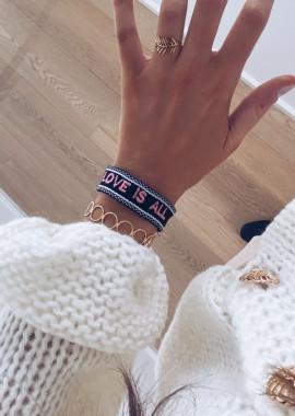 """Love is all"""" bracelet"""