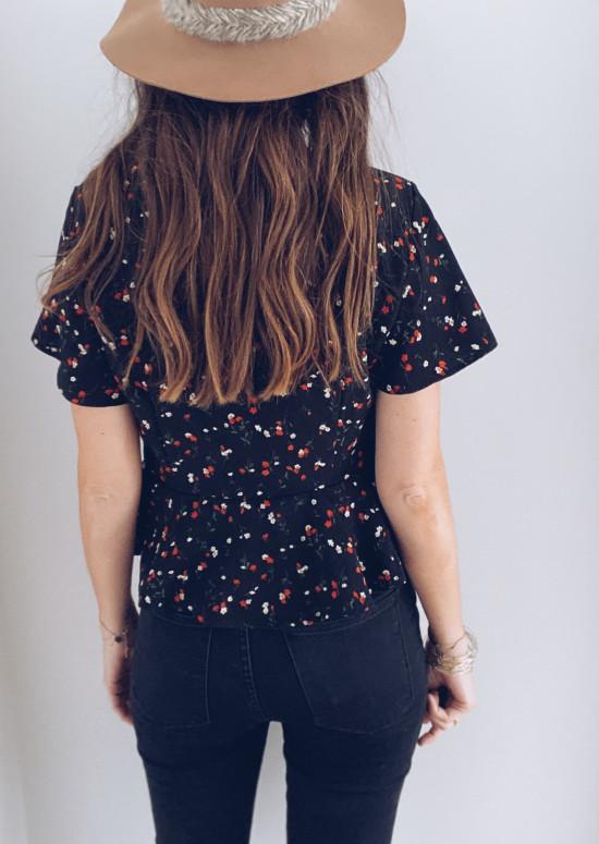 Black Poly blouse