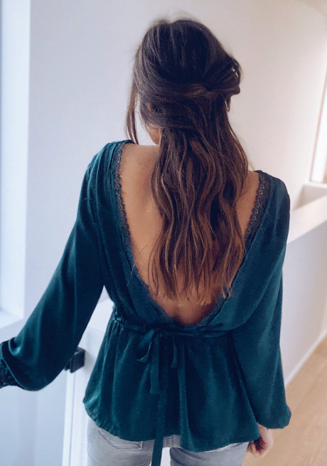 Dark green Orane blouse