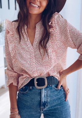 Red Mariette blouse