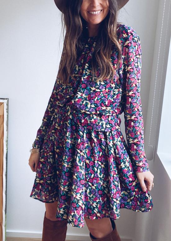 Neda patterned dress