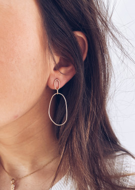 Boucles d'oreilles Assan doré