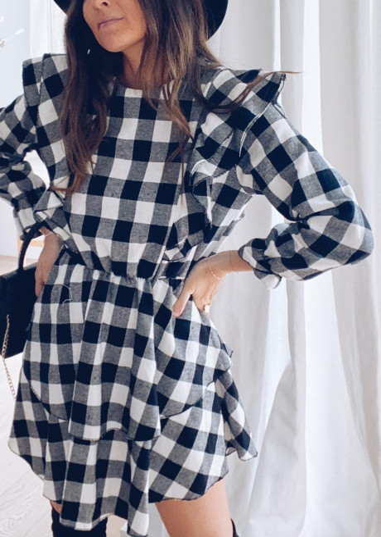 Adalie checked dress