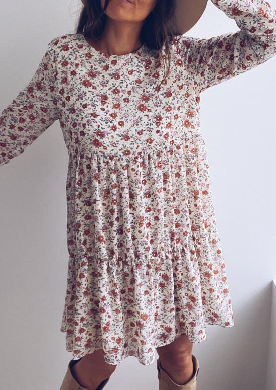 Doris dress with flowers