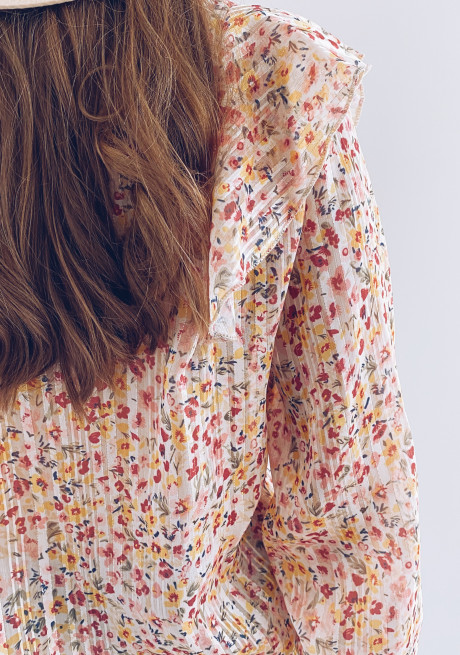 Catena shirt with flowers