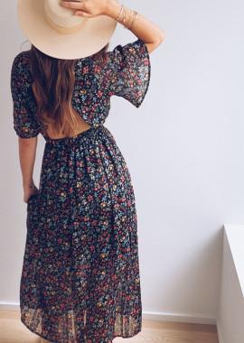 Robe longue Kloe à fleurs