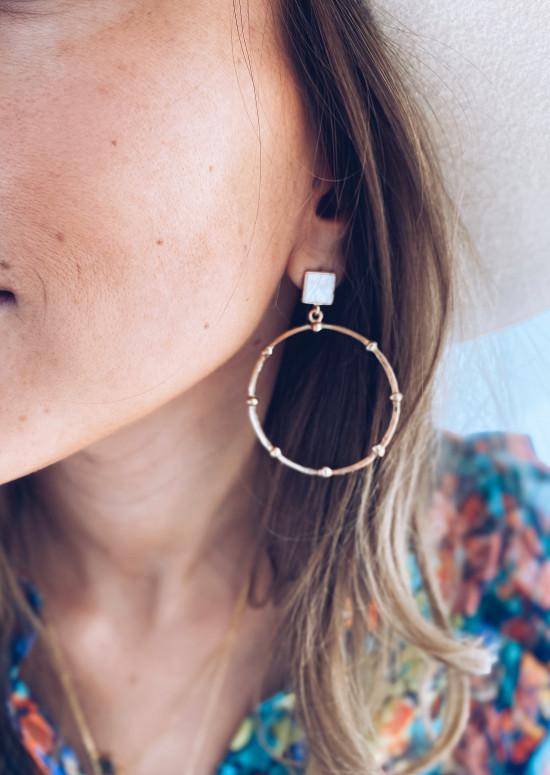 Boucles d'oreilles Wilda doré