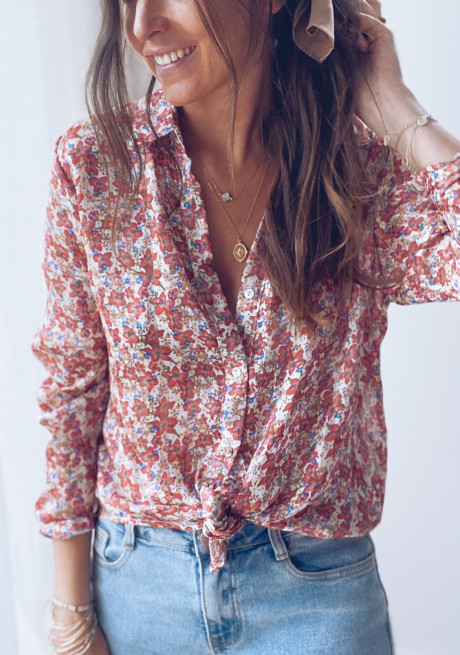 Lanna shirt with flowers