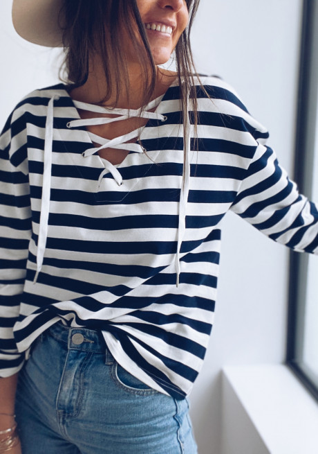 Miro blouse with lines