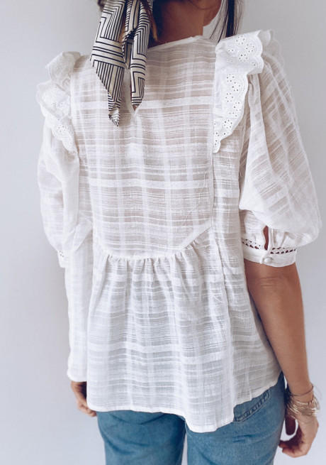 White Clarence blouse