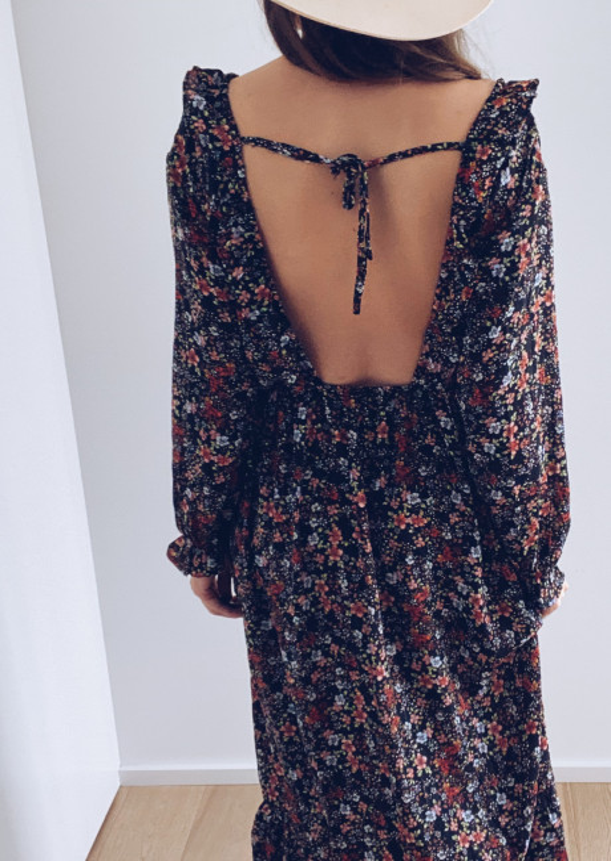 Long Maissa dress with flowers