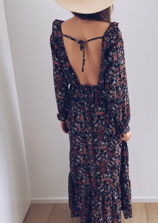 Robe longue Maissa à fleurs