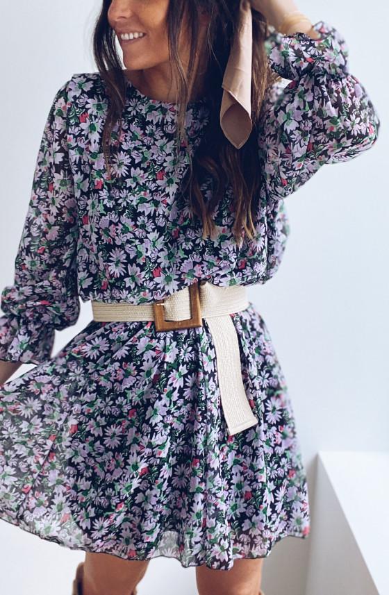 Amandine dress with flowers
