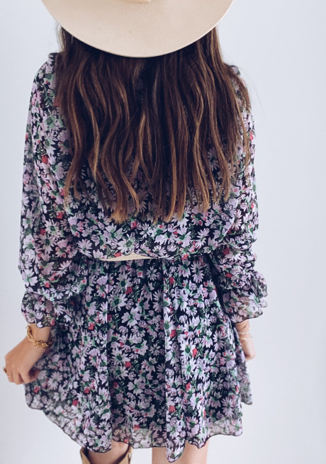 Amandine dress with flowers