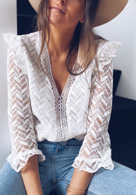 Blouse Maelys blanche