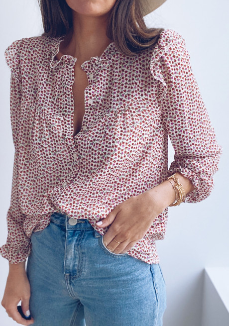 Arielle blouse with flowers
