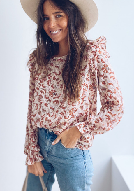 Lauralie patterned blouse