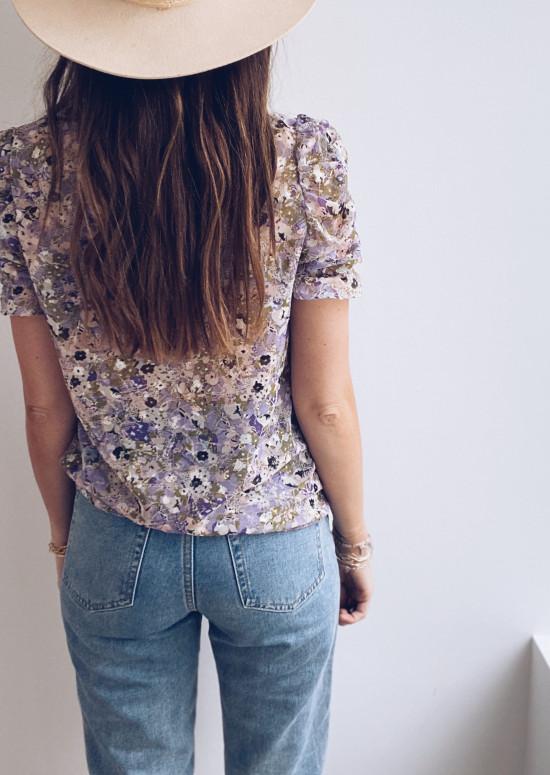 Purple Claire blouse