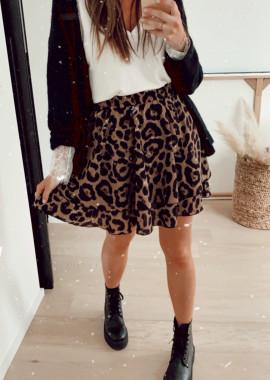 Leopard Berthe skirt